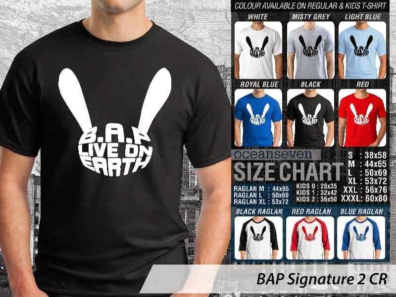 KAOS BAP Signature 14 K Pop Korea distro ocean seven
