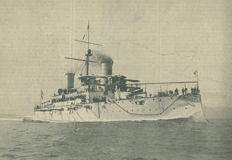 El GARIBALDI, su near sister. De la revista Le Yacht. Año 1898.jpg