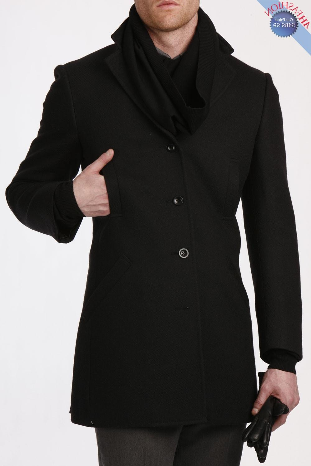 Mens Black Twill Overcoat 100