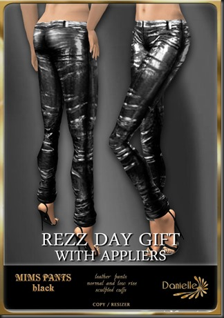 DANIELLE Mims Pants Black rezzday gift