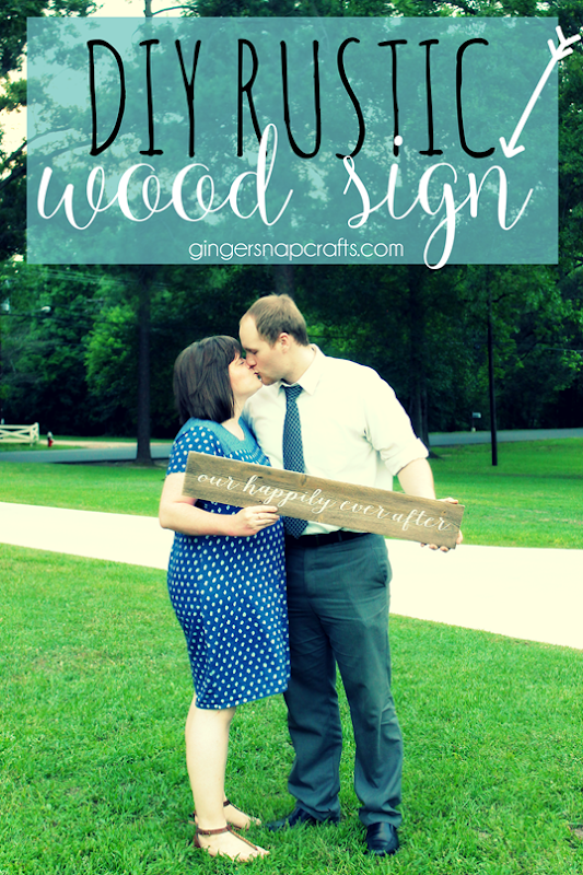 DIY Rustic Wood Sign at GingerSnapCrafts.com #DIY   #barnwoodsign #gingersnapcrafts