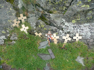 Castle Crag Remembrance Crosses