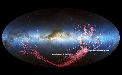 liberação de gás no halo da Via Láctea