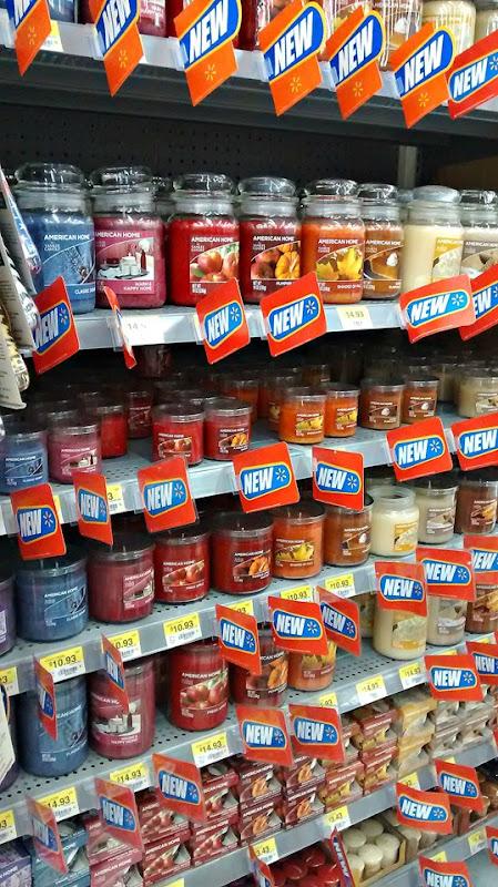 candles at Walmart