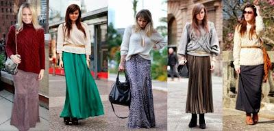como usar saia longa, como usar saião