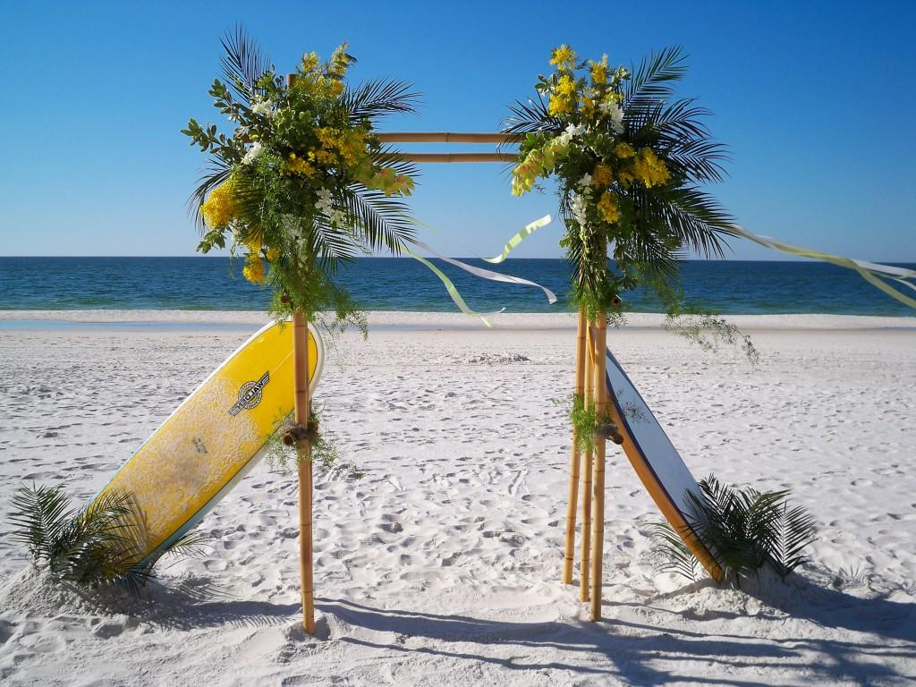 Bamboo Wedding Arch For