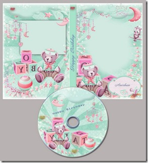 Happy Birthday DVD cover template 2