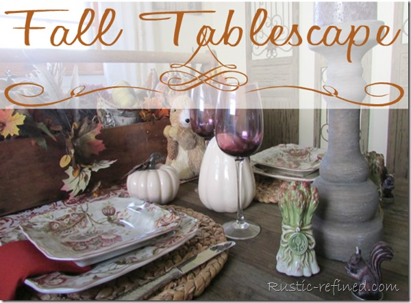 Fall Russet Tablescape