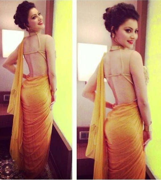 Urvashi-Rautela-sexy-saree
