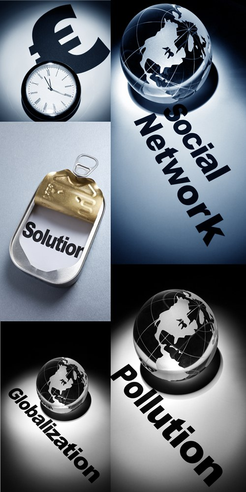 Stock Photo: Globe, concept of Social Network