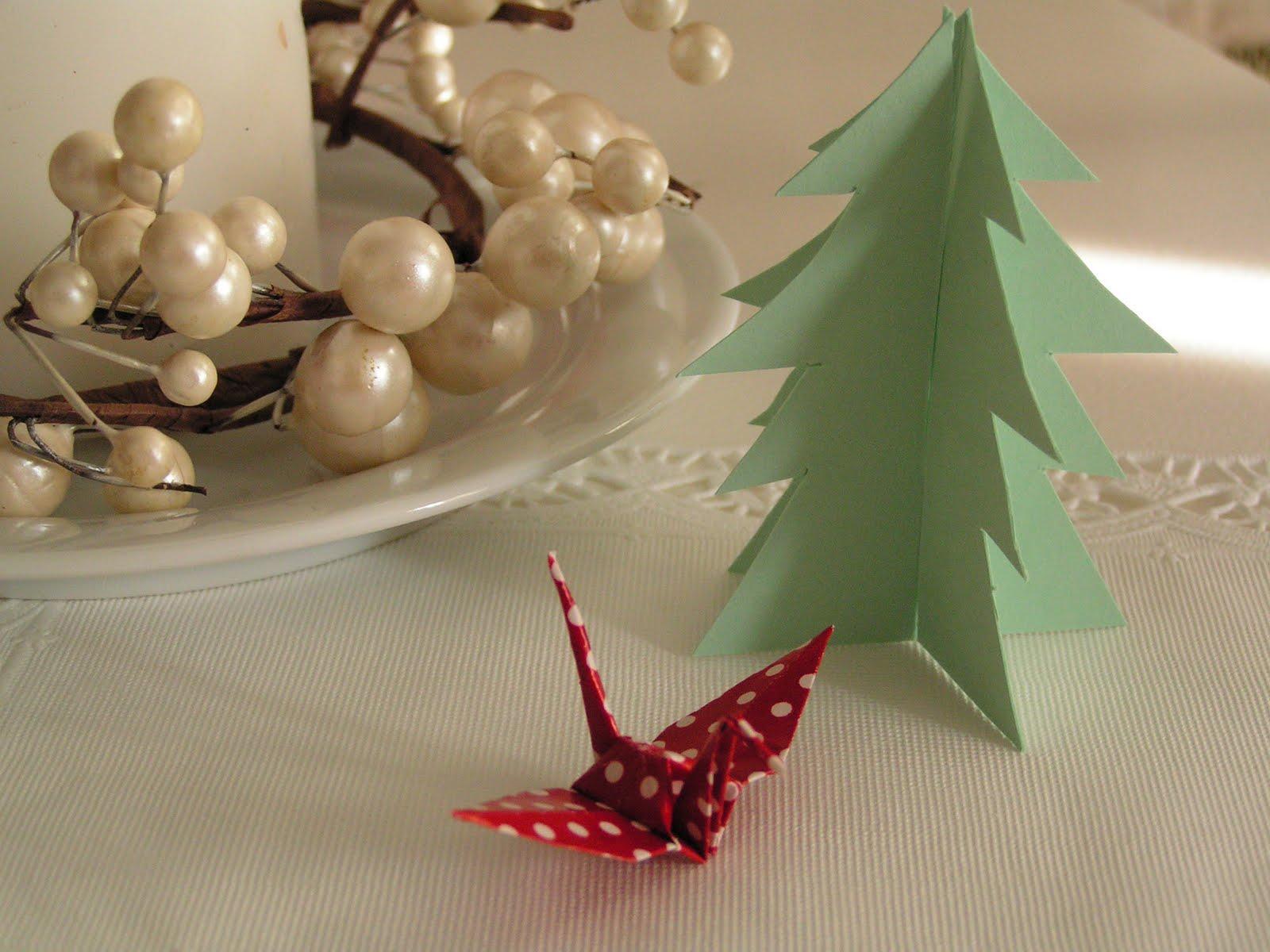 Origami crane and Christmas