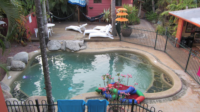 The pool at Travellers Oasis.