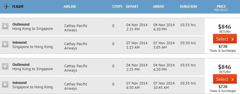 zuji singapore airfares