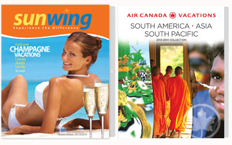 Sunwing and Air Canada Vacations Brochures