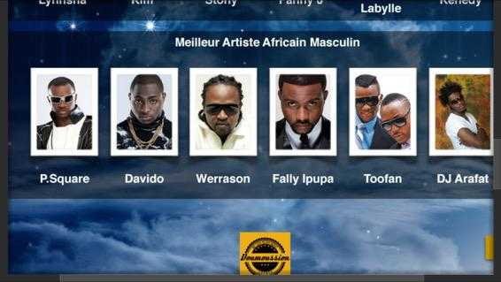 Fally Ipupa, Davido, Toofan, P-Square, Werra Son And Yorobo To Face Off At The Afroca Music Awards!