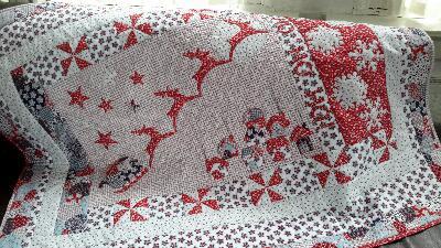 De gelukkige naaister kerst quilt for Quilt maken met naaimachine