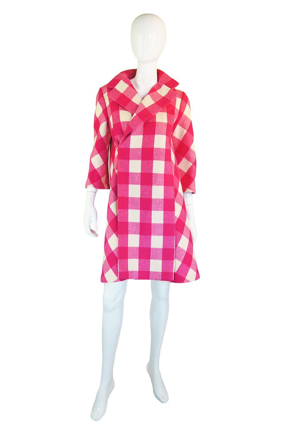1960s Pink Check Paulene