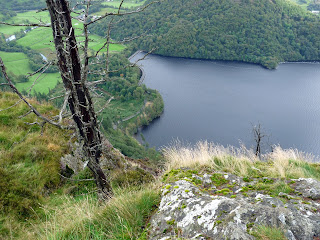 The steep view to Thirlmere Dam