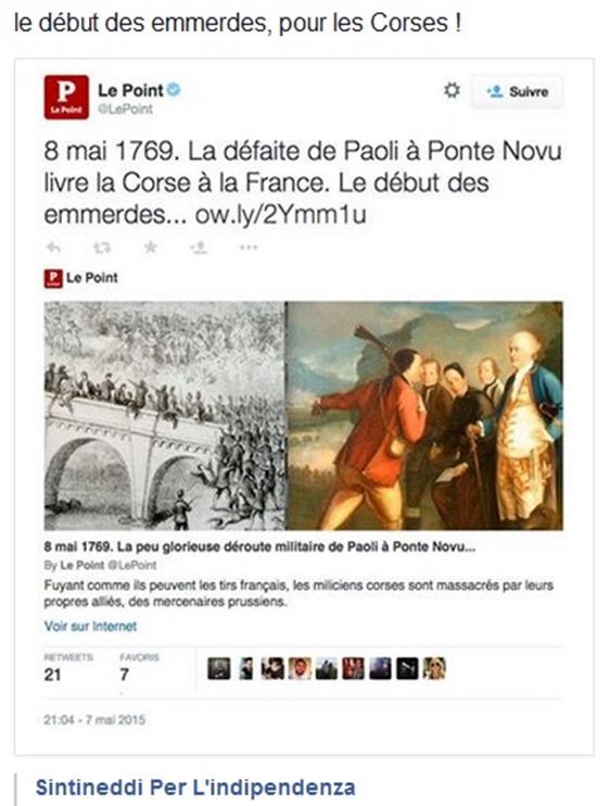 vision francesa de l'invasion de Corsega