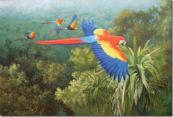 sobrevolando el dosel - Oscar Correa -ENKAUSTIKOS