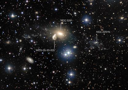 região em torno da galáxia em interação NGC 5291