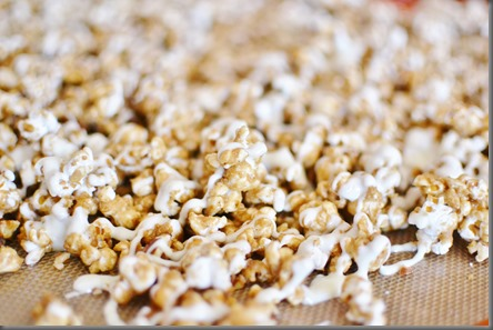 This popcorn has been a staple in our house this summer Cinnamon Bun Popcorn