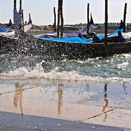 San Marco by Mary Elizabeth McGlynn - Transportation Boats