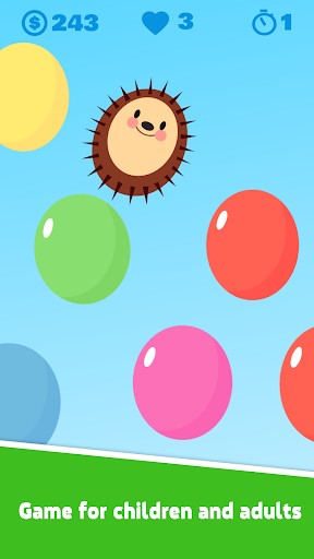 Hedgy Pop and colored balloons. For PC