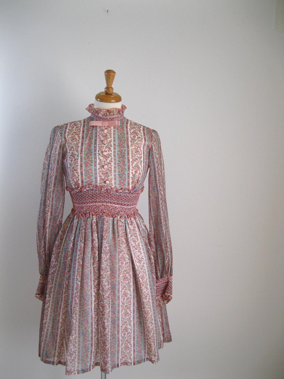 1960s Dress Pink Victorian Wedding. From gogovintage