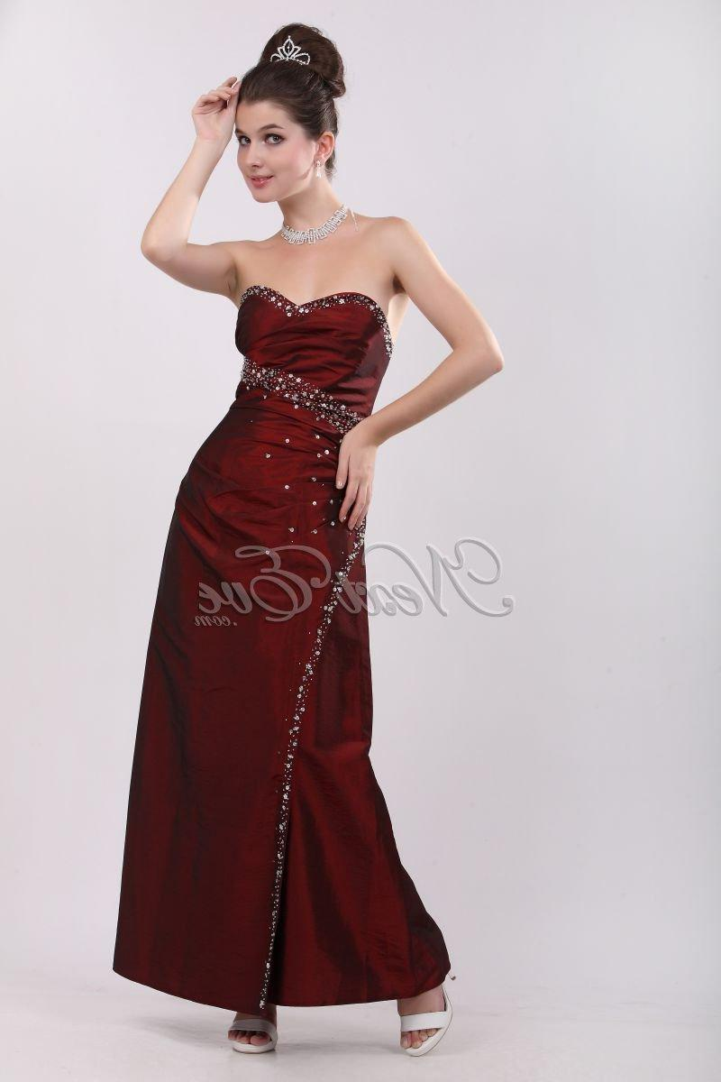Evening dress - wine red