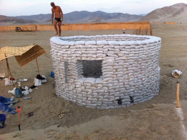 At This Point We Re Almost Finished With The Sandbag Structure Moving On To Next Step