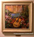 'La guitarra en el jardín' de Encarna Ten. Óleo sobre lienzo