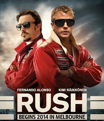 Кими Райкконен и Фернандо Алонсо - постер RUSH