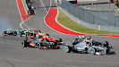 Start of the 2013 US F1 GP 1st corner