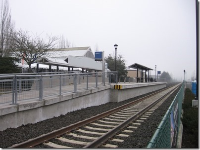 IMG_5375 TriMet Westside Express Service Platform at the Tigard Transit Center in Tigard, Oregon on January 30, 2009