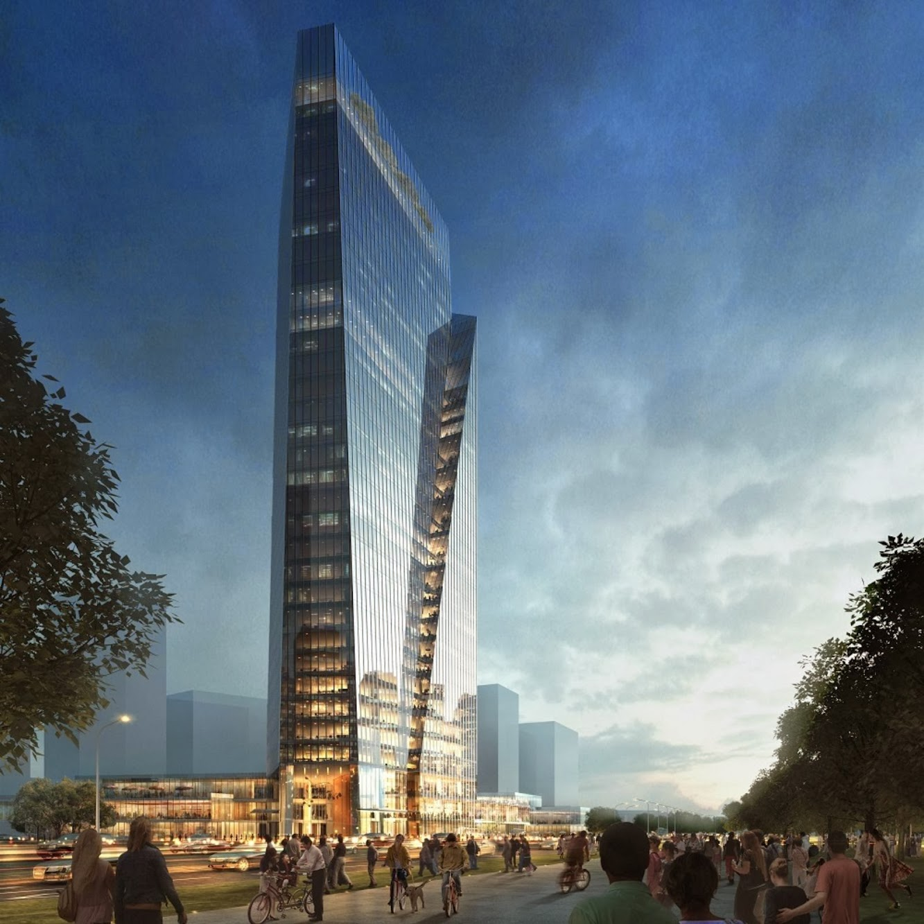 Hangzhou, Cechiang, Cina: Aedas Designs New Office-CUM-Retail Project in Hangzhou