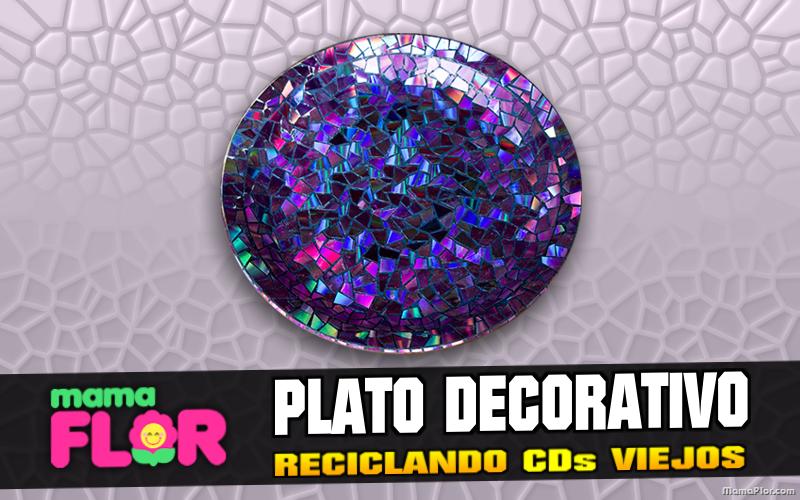 Haz Platos Decorativos con CDs viejos | Manualidades Reciclaje en solo en 5 pasos
