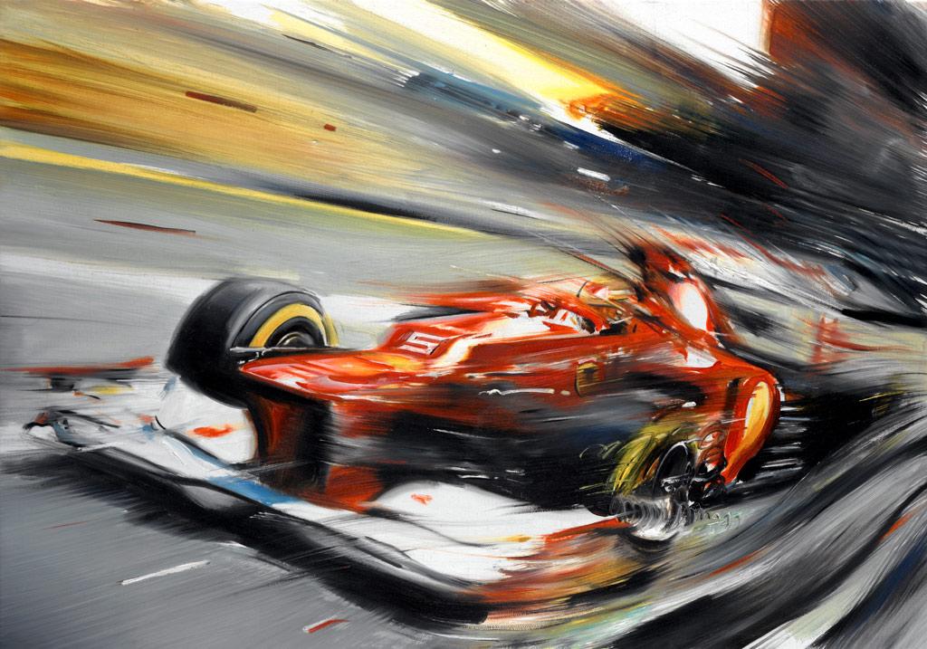 Фернандо Алонсо Ferrari F2012 by Andrea Del Pesco