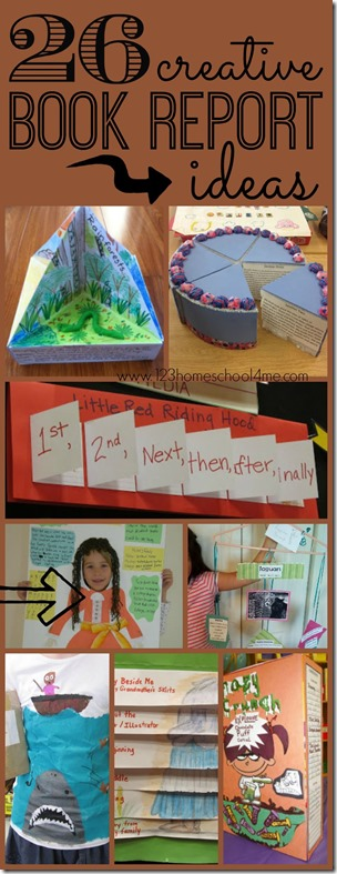26 creative book report ideas so many really unique and fun book report projects for