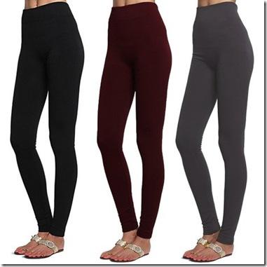 Women's 3 Pack Fleece Lined Leggings