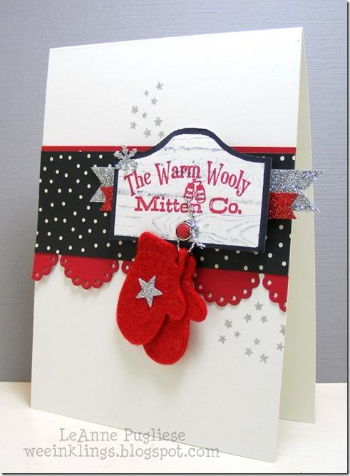 LeAnne Pugliese WeeInklings #1 Paper Players 270 Warm Wooly Mitten Co