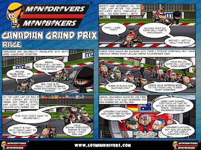 комикс MiniDrivers по гонке на Гран-при Канады 2014