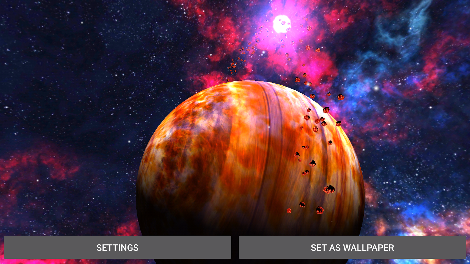 3D Space Planets LWP Screenshot 10