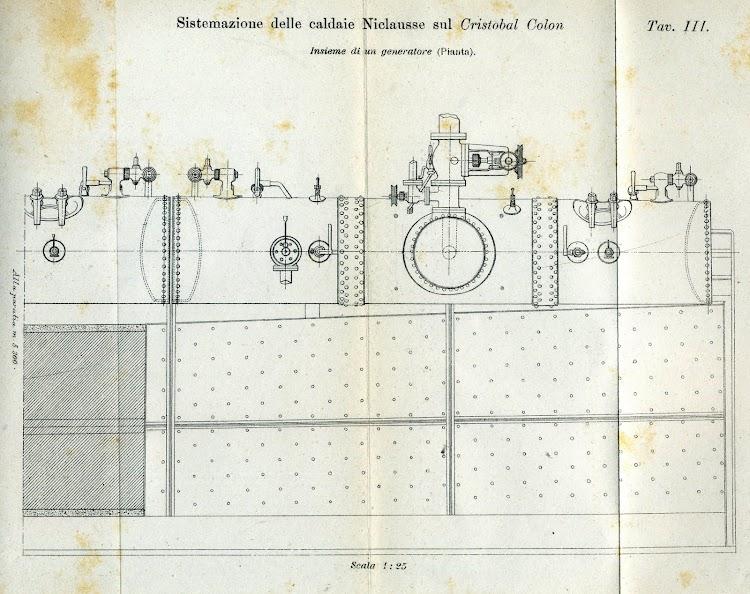 Planta del mismo generador. De la Rivista Marittima. Año 1897.jpg