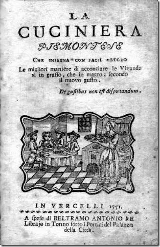 Cuciniera piemontese 1771