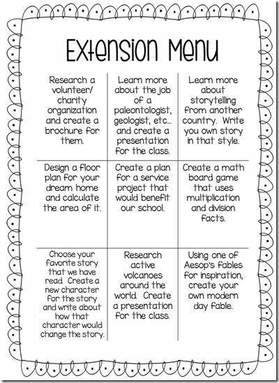 Extension Menu 1
