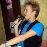 matt at karaoke in Roppongi, Tokyo, Japan