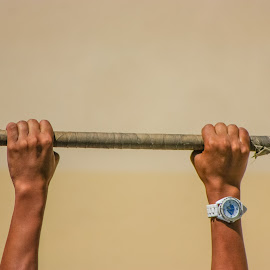 Hang On by Matt Dittsworth - Sports & Fitness Other Sports ( marine, njrotc, army, flag )