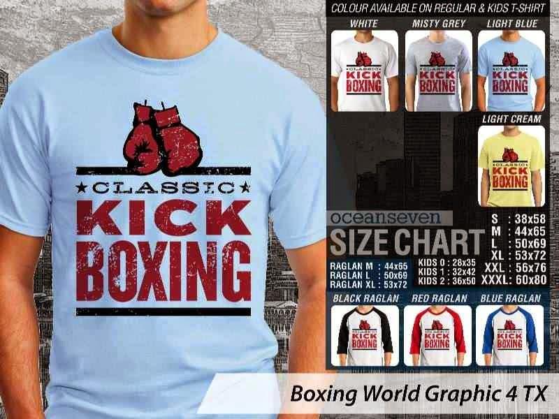 Kaos Olah Raga Sport Boxing World Graphic 4 distro ocean seven