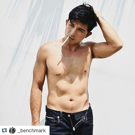 Dennis Trillo shirtless for Benchmark
